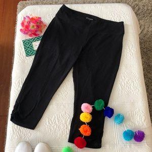 NWOT Tek Gear fitted black crop leggings